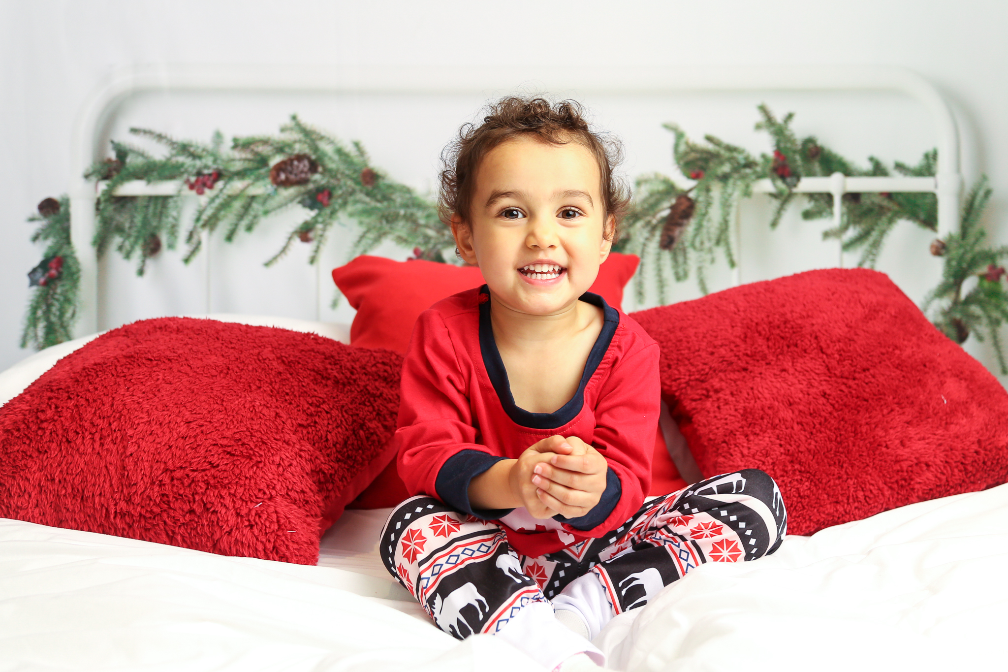Christmas Pajamas Photoshoot.Christmas Photoshoot